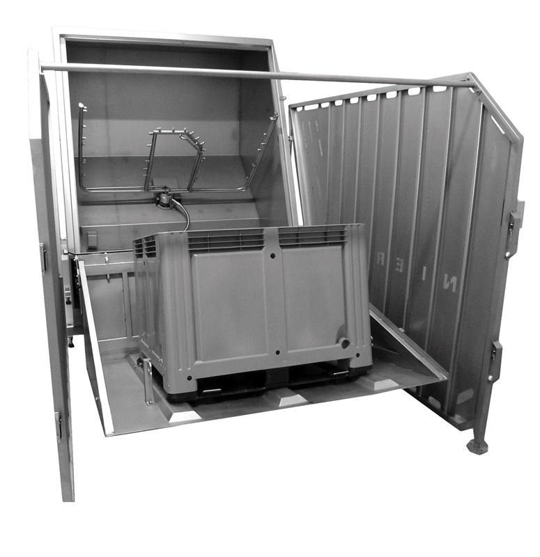 Foto de Cabina de lavado para cajas de paletas y contenedores CLK 800